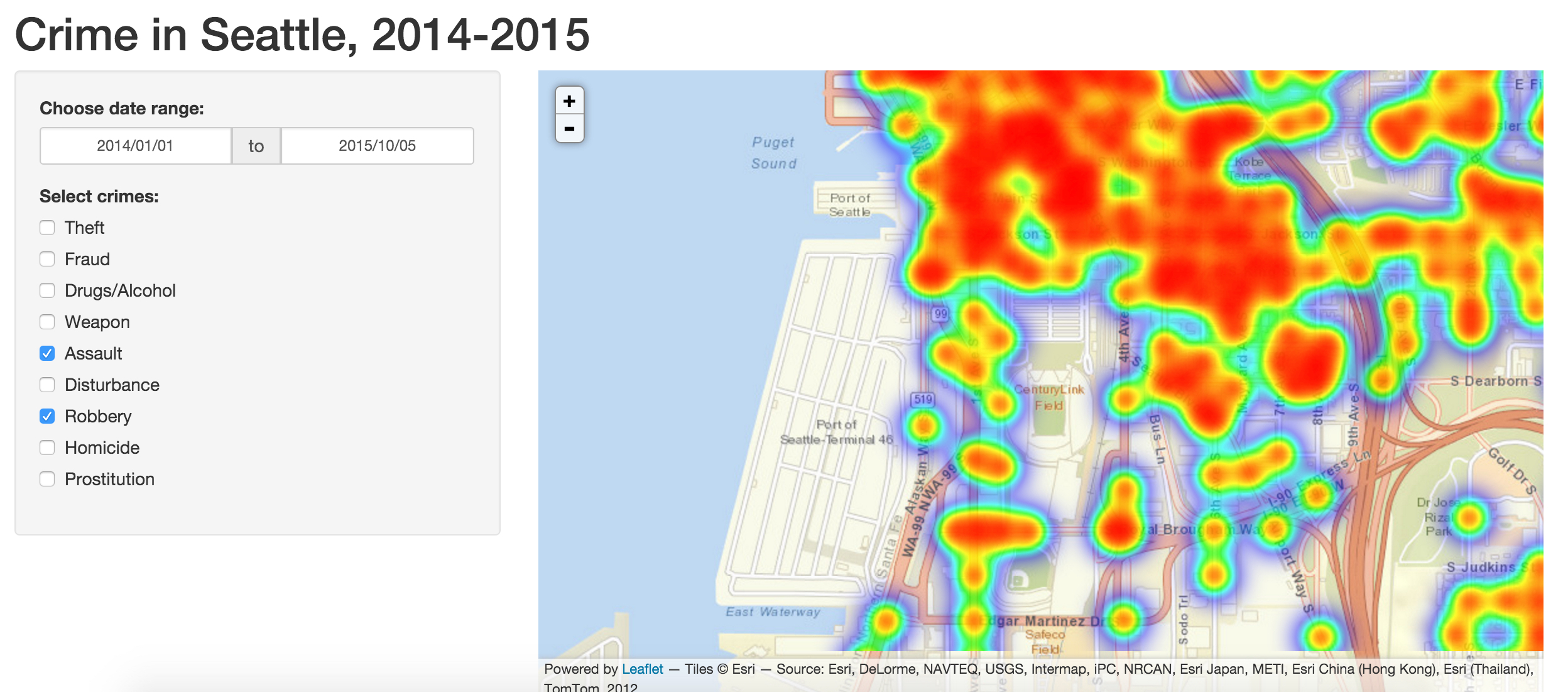 Crime Density in Seattle | NYC Data Science Academy Blog