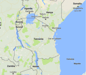 Figure 1. Map of Tanzania