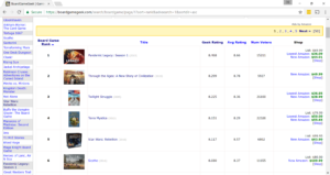 Fig 2: Game Search Page, Rank Increasing