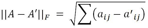SVD: Formula