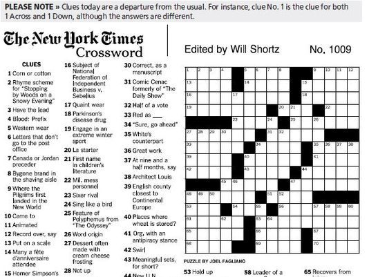 The Nyt Crossword Puzzle Is Approximately As Cool As The Oed Data Science Blog