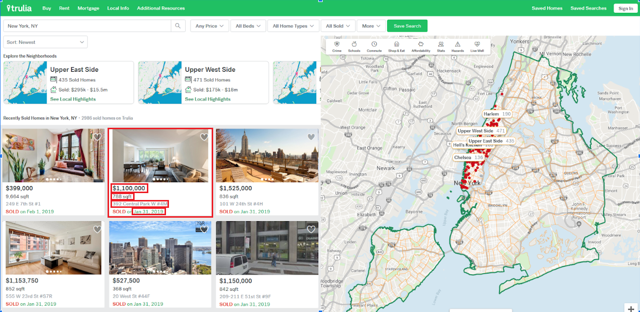 NYC Real Estate – A Webscraping Project | NYC Data Science