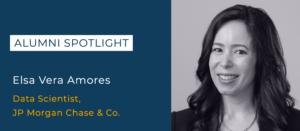 Elsa Vera Amores, Data Scientist at JP Morgan Chase