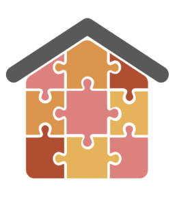 A puzzle depicting a house